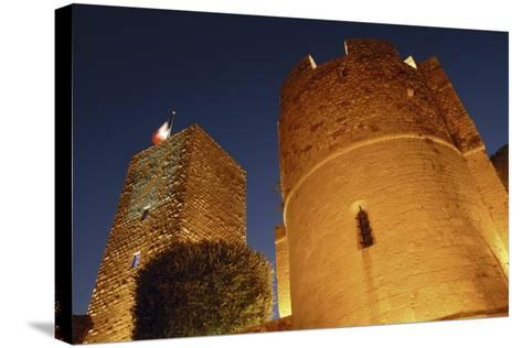 Low Angle View of a Castle, Le Suquet, Cannes, France--Stretched Canvas Print