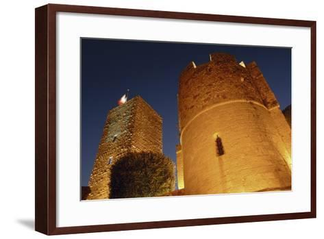 Low Angle View of a Castle, Le Suquet, Cannes, France--Framed Art Print