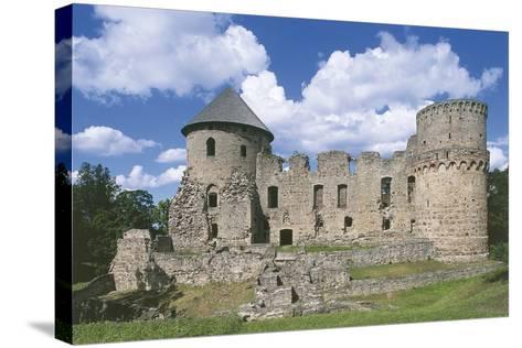 Old Ruins of a Castle, Cesis, Vidzeme, Latvia--Stretched Canvas Print