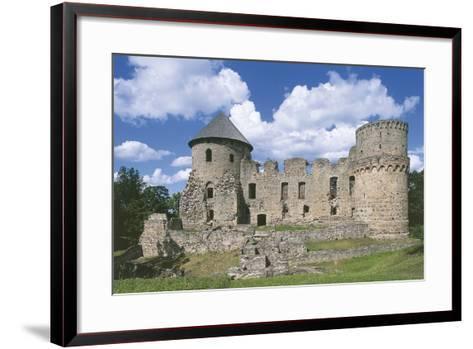 Old Ruins of a Castle, Cesis, Vidzeme, Latvia--Framed Art Print
