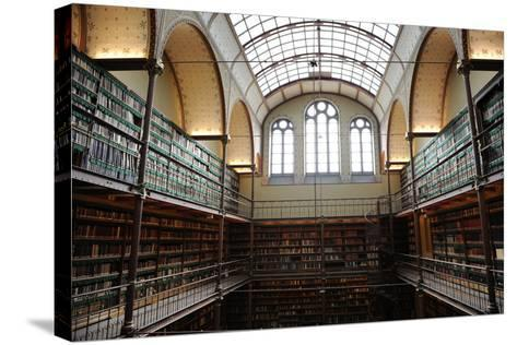 Holland, Amsterdam, Rijksmuseum, Library--Stretched Canvas Print