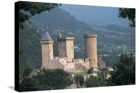 Castle on a Hill, Foix, Midi-Pyrenees, France--Stretched Canvas Print