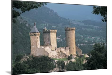 Castle on a Hill, Foix, Midi-Pyrenees, France--Mounted Photographic Print