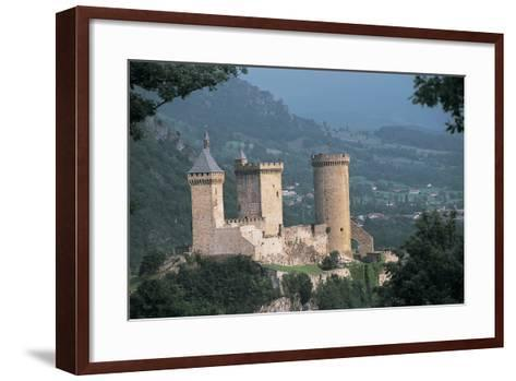 Castle on a Hill, Foix, Midi-Pyrenees, France--Framed Art Print