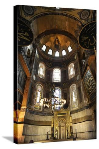 Hagia Sophia, Interior, Istanbul--Stretched Canvas Print