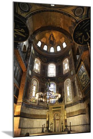 Hagia Sophia, Interior, Istanbul--Mounted Photographic Print