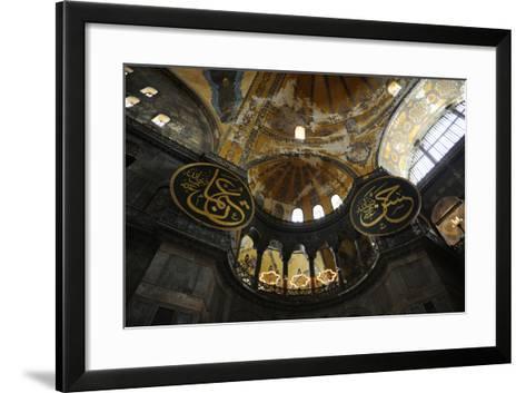 Hagia Sophia, Interior, Istanbul--Framed Art Print