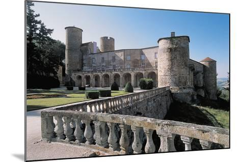 Facade of a Castle, Ravel Castle, Auvergne, France--Mounted Photographic Print