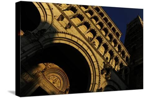 Italy, Lucca, Cathedral of Saint Martin, Facade--Stretched Canvas Print