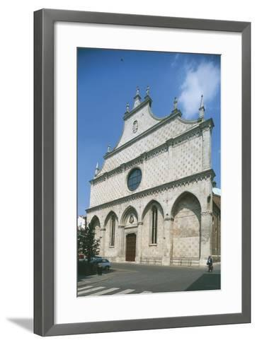Facade of a Cathedral, Vicenza, Veneto, Italy--Framed Art Print