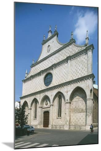 Facade of a Cathedral, Vicenza, Veneto, Italy--Mounted Photographic Print