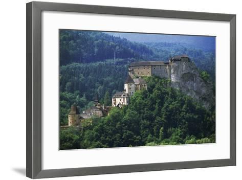 Orava Castle, Oravsky Podzamok, Slovakia--Framed Art Print