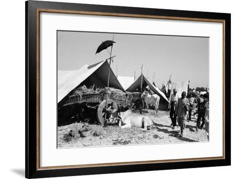 Tent Identifier Umbrella, Voutha Fair, Gujarat, India, 1983--Framed Art Print