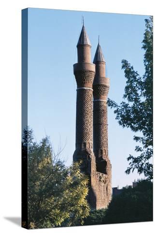 Twin Minaret Madrasa, Sivas, Central Anatolia, Turkey--Stretched Canvas Print