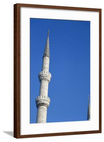 Blue Mosque, Minaret, 17th Century, Istanbul, Turkey--Framed Art Print