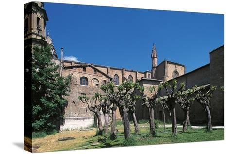 Side View of Pamplona Cathedral, Navarra, Spain--Stretched Canvas Print
