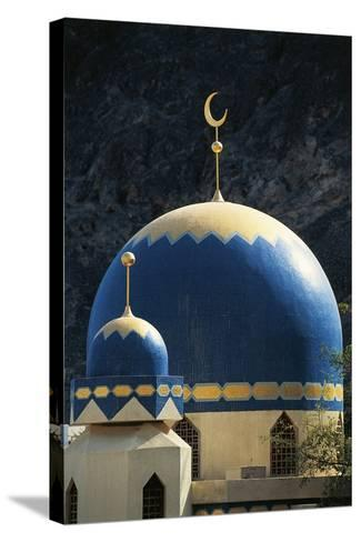 Domes of Mosque of Kalbooh Near Muscat, Oman--Stretched Canvas Print