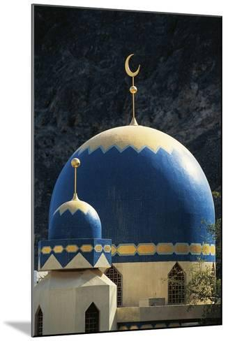 Domes of Mosque of Kalbooh Near Muscat, Oman--Mounted Photographic Print