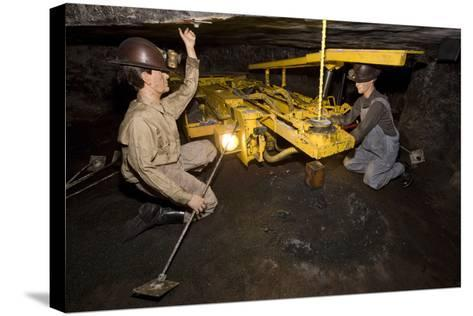 Coal Mine Roof Bolting Display--Stretched Canvas Print