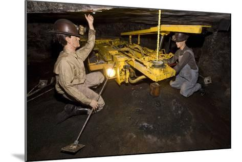Coal Mine Roof Bolting Display--Mounted Photographic Print