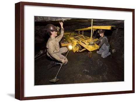 Coal Mine Roof Bolting Display--Framed Art Print