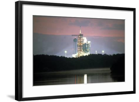 Space Shuttle on Launchpad, Kennedy Space Center, Florida--Framed Art Print