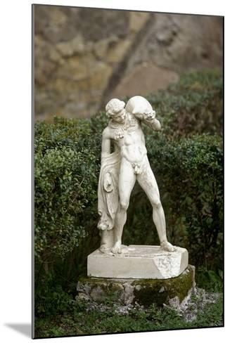 Statue of a Satyr Holding a Wineskin. Herculaneum--Mounted Photographic Print