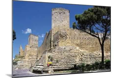 Low Angle View of a Castle, Enna, Sicily, Italy--Mounted Photographic Print