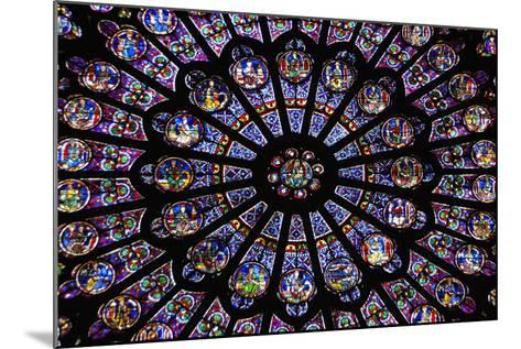 France, Paris, Notre Dame, Rose Window--Mounted Photographic Print