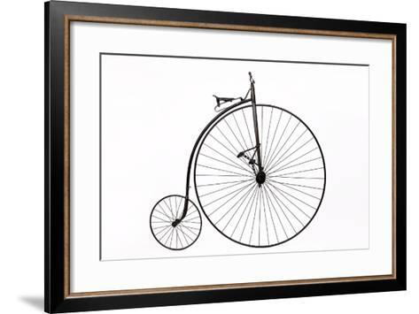 A Columbia High Wheel Bicycle--Framed Art Print