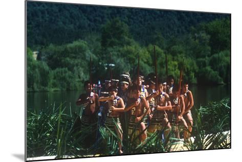 Ngaruawahia River Regatta, Maori Festival, Ngaruawahia, New Zealand--Mounted Photographic Print