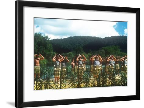 Ngaruawahia River Regatta, Maori Festival, Ngaruawahia, New Zealand--Framed Art Print