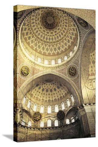 Interior of a Mosque, Istanbul, Turkey--Stretched Canvas Print