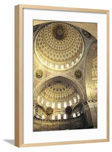 Interior of a Mosque, Istanbul, Turkey--Framed Art Print