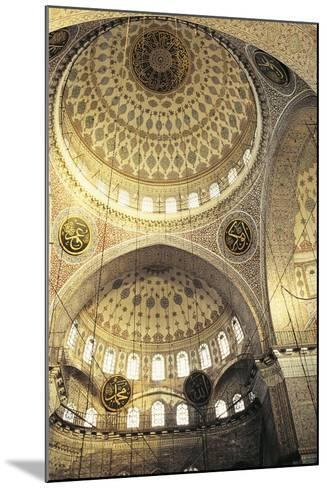 Interior of a Mosque, Istanbul, Turkey--Mounted Photographic Print