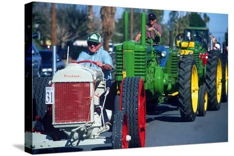 Tractors in Parade, Carrot & BBQ Cook-Off, Holtville, California--Stretched Canvas Print