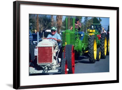 Tractors in Parade, Carrot & BBQ Cook-Off, Holtville, California--Framed Art Print