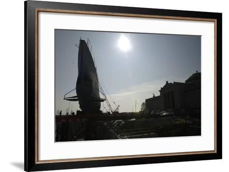 The Move of the Captured German Submarine U505--Framed Art Print
