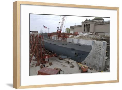The Move of the Captured German Submarine U505--Framed Art Print