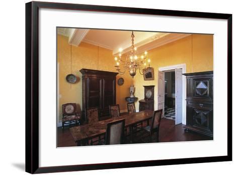 Room in Castle of Gelos, Aquitaine, France--Framed Art Print