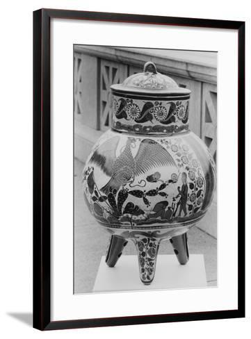 A Piece of Decorative Mexican Pottery--Framed Art Print