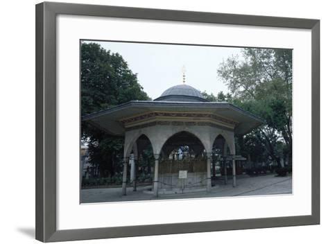 Hagia Sophia, Fountaint of Ablutions, Istanbul--Framed Art Print