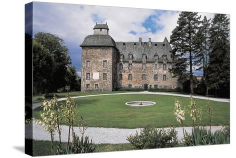 Facade of a Castle, Conros Castle, Auvergne, France--Stretched Canvas Print