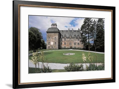 Facade of a Castle, Conros Castle, Auvergne, France--Framed Art Print