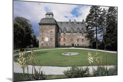 Facade of a Castle, Conros Castle, Auvergne, France--Mounted Photographic Print