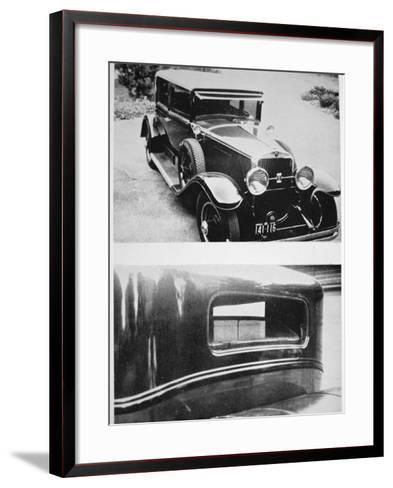 Al Capone's (1899-1947) Armoured Cadillac--Framed Art Print