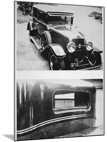 Al Capone's (1899-1947) Armoured Cadillac--Mounted Photographic Print