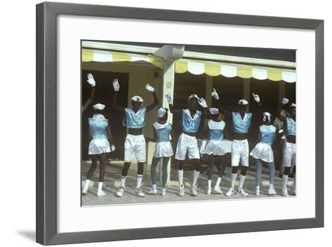 Beauty Contest Festivities, Carnival, Anguilla--Framed Art Print