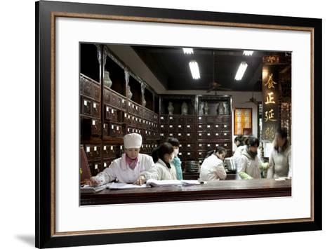 Old Drugstore in Zhongshan Lu, Hangzhou, China--Framed Art Print