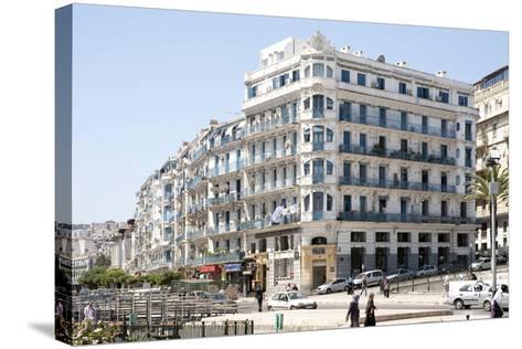 Haussmann Building in Algiers, Algeria--Stretched Canvas Print